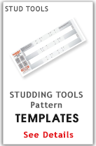 Snowmobile Track Stud Templates